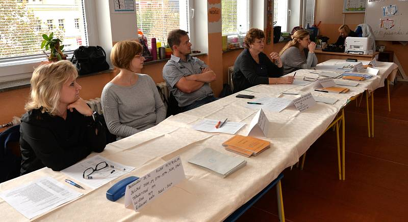 Volební komise v Chomutově .