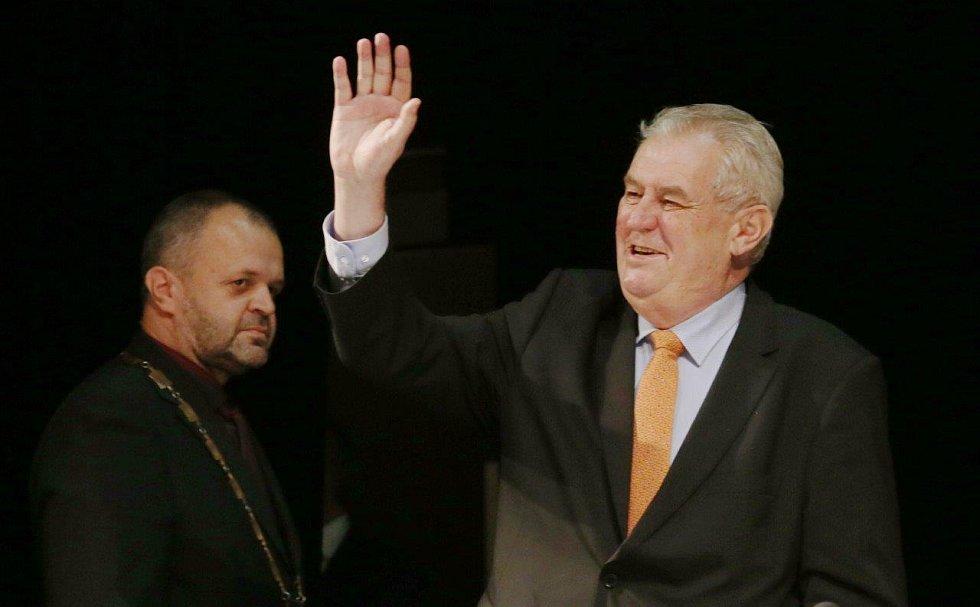 Návštěva prezidenta Miloše Zemana v Kadani.