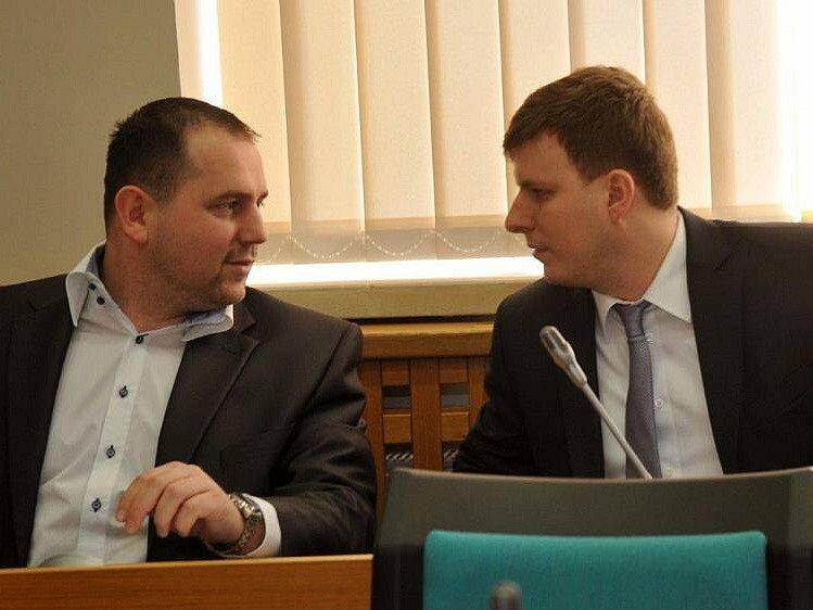 Stanislav Mikšovic a David Dinda z Nového Severu.