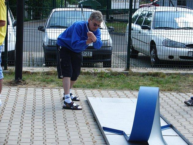 Jiří Broumský během závodu.