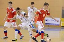 Česká reprezentace U 21 (v bílém) v utkání s Ruskem