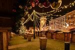 Vánočně nazdobené centrum Chomutova