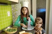 Žáci 3. B jako kuchaři.