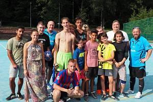Účastníci pouliční ligy s vedením CHLMF.