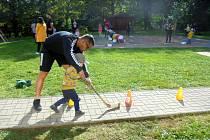 Zábavné sportovního odpoledne na MŠ Blatenská v Chomutově.