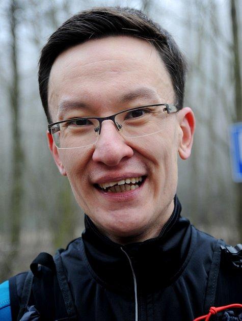 Běžec Jiří Holeček.