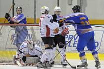 Snímek z utkání mužstva Klášterce s Klatovami.