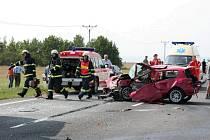 Snímky ze smrtelné dopravní nehody.