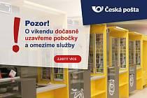 Česká pošta modernizuje informační systémy. Proto krátkodobě uzavře pobočky a Pošty Partner.