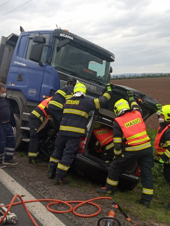 Dopravní nehoda u Hrušovan