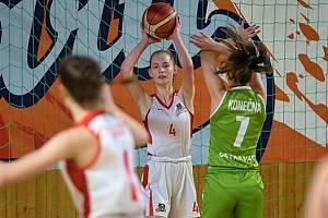 Mládež basketbalových Levhartů z Chomutova.