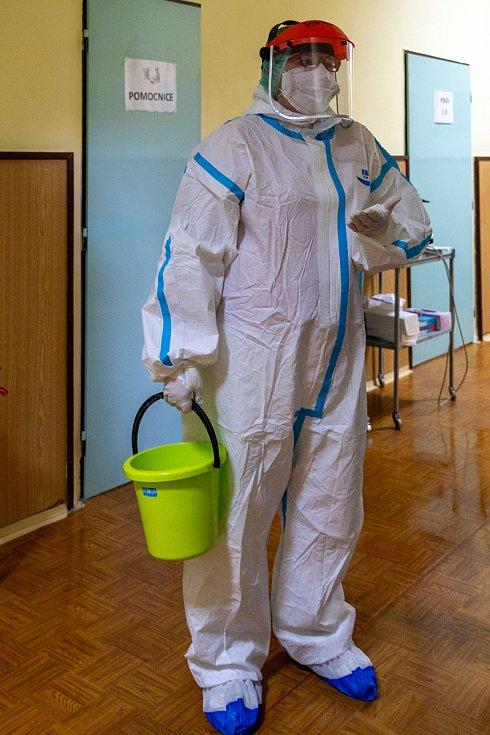Covidová jednotka v chomutovské nemocnici.