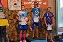 Anežka Doksanská zvítězila na 100 metrů znak.