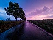 Chomutovskem se v neděli 15. července večer prohnala bouřka i s větším deštěm, který místy vytvořil na silnicích laguny vody.