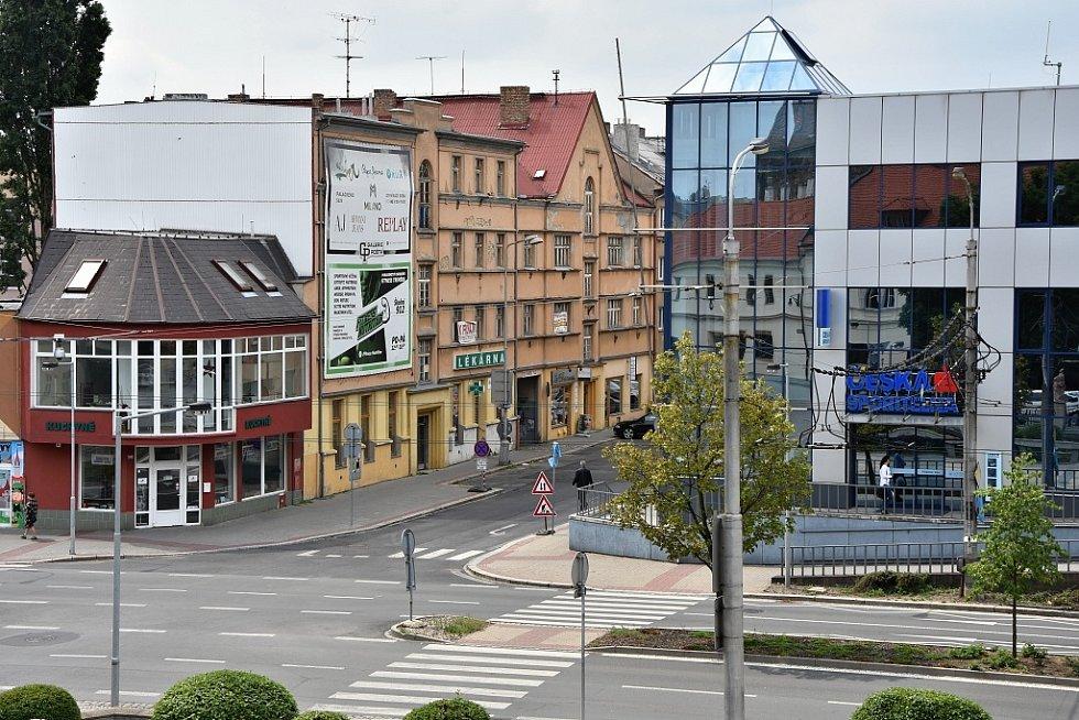 Palackého ulice z terasy Rezidence Chomutovka