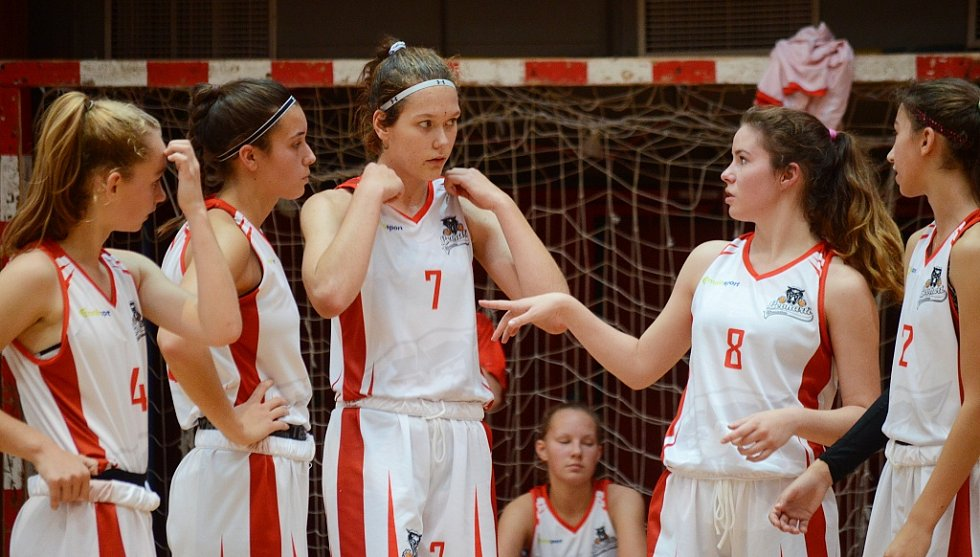 Utkání Chomutova (v bílém) proti HB Basket Praha