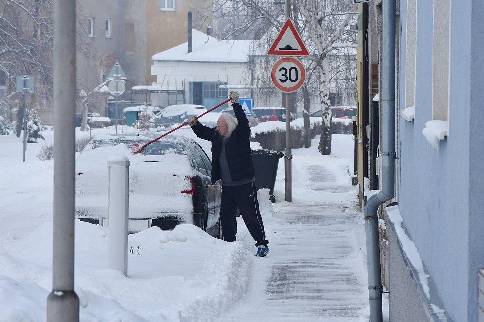 Sněhová nadílka ve Vrskmani.