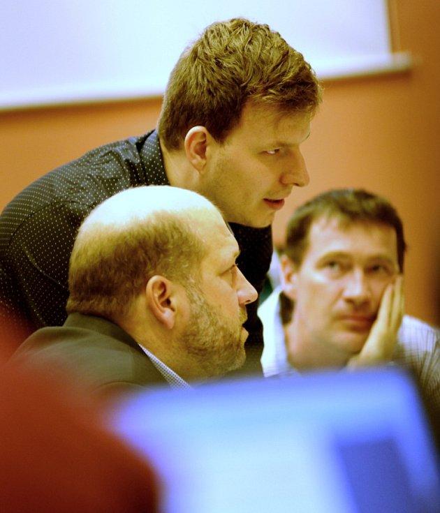 David Dinda (Nový sever), vlevo Jaroslav Komínek.