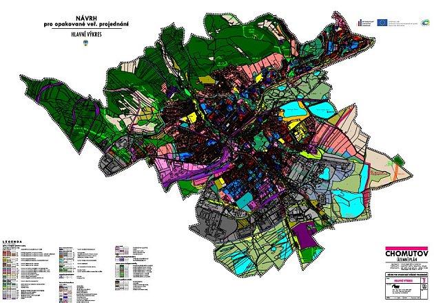 Nový územní plán města Chomutova.