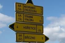 Ráj pro cyklisty. Březno a okolí jsou cyklostezkami a cyklotrasami prošpikovány.
