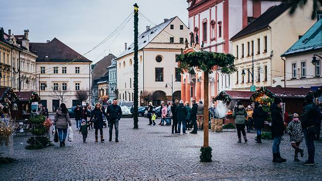 Chomutovské vánoční náměstí.