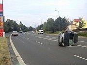 Vážně vypadající nehoda se obešla bez zranění.