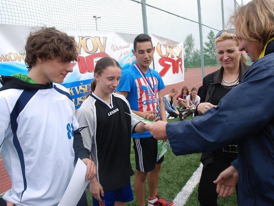 Odznak Všestrannosti Olympijských Vítězů: okresní kolo Jirkov 6. května.