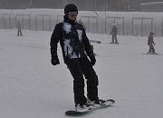 Sváteční lyžovačku si na Klínovci lidé nenechali ujít