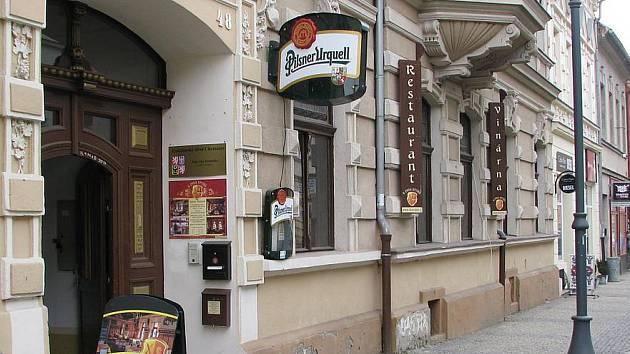 Restaurace U Dvou Rytířů.