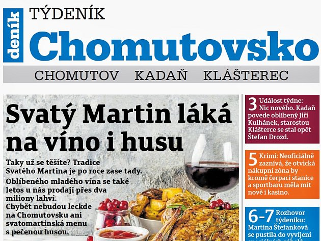 Týdeník Chomutovsko ze 6. listopadu 2018