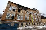 Domov pro mentálně postižené ve Vejprtech poškozený požárem.