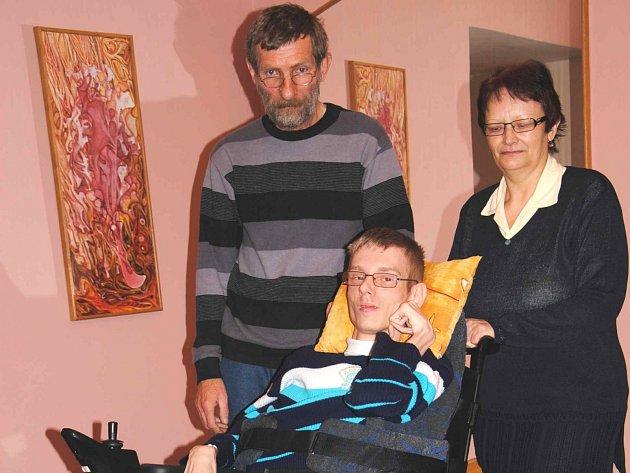 Zdeněk Růžička s rodiči.