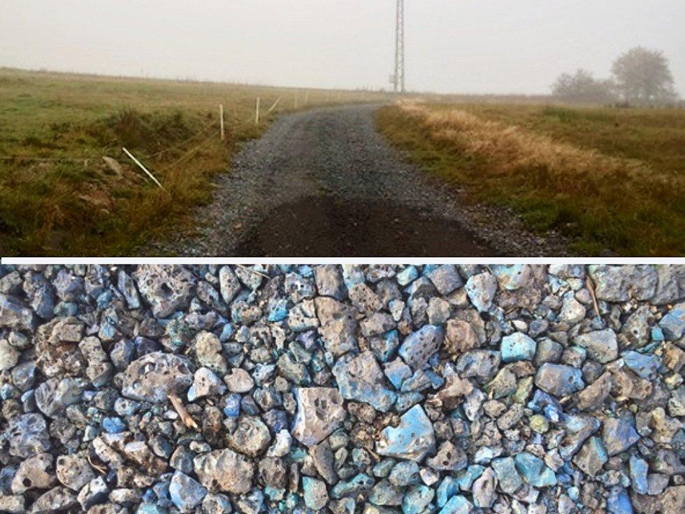 """""""Skleněné cesty"""" se táhnou v délce patnácti kilometrů. Na opravu bolebořská společnost použila hutní strusku."""