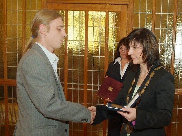 Miroslav Kouba získal zvláštní ocenění i od primátorky Chomutova.
