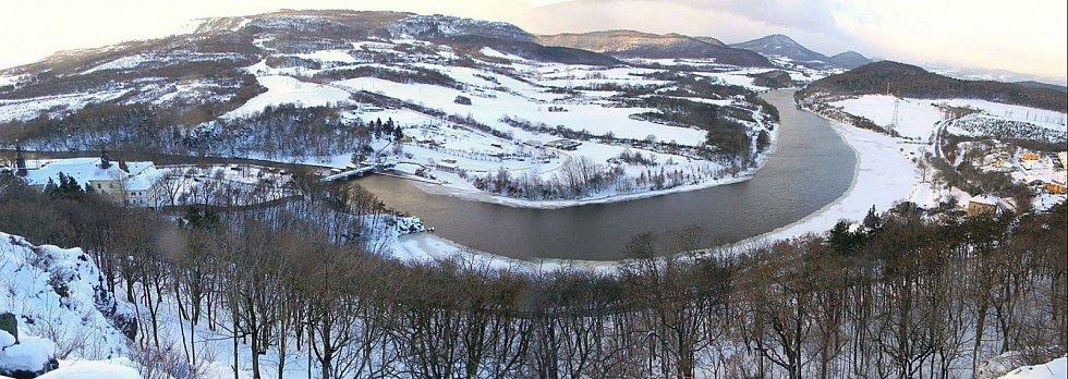 ZIMA. Kadaňský stupeň a příroda kolem v zimě.