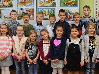 Žáci 1. B ZŠ Budovatelů paní učitelky Lenky Sukové