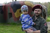 Otevření vojenského historického objektu na Kočičáku v Chomutově