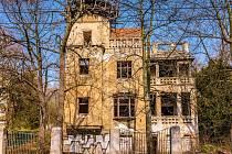Goldmannova vila v dnešní Čelakovského ulici, dříve Schillerově, v Chomutově