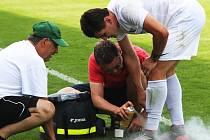 Denys Tokar byl ošetřován v posledním domácím utkáni s Nymburkem. Pro zranění je vyřazen na tři týdny ze hry.