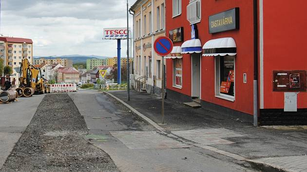 Na snímku rekonstrukce Vinařické ulice.