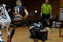 Chomutov (v bílém) v zápase s Brnem.