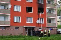 Na sídlišti Kamenná vyhořel byt.