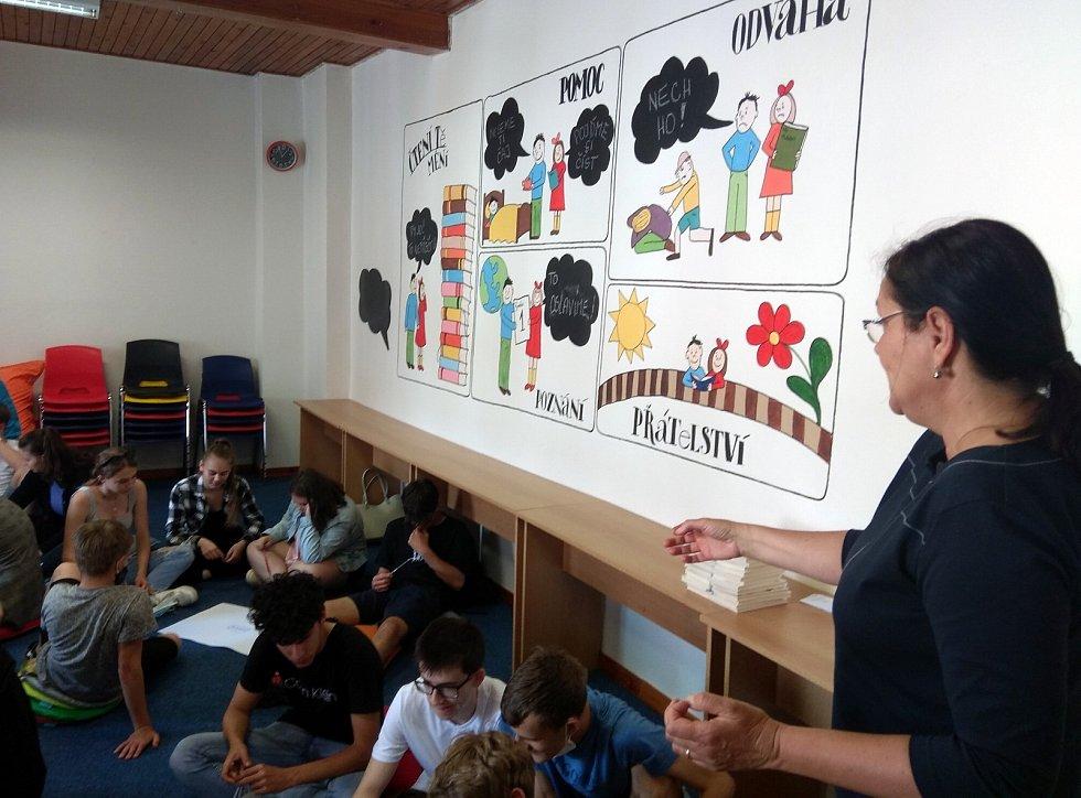 Workshopy v Chomutovské knihovně byly stvořené pro žáky ze ZŠ Kadaňská.