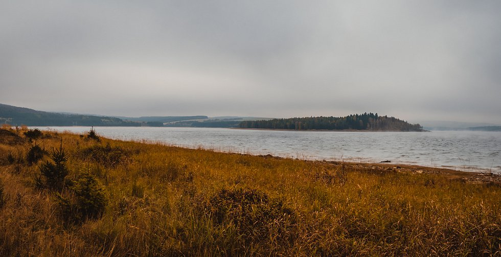 Krušné hory - Přísečnická přehrada.
