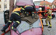 Krajská soutěž hasičů ve vyprošťování zraněných osob v Chomutově