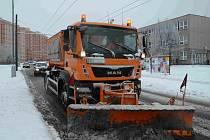 Ze sněhem na přelomu března a dubna už téměř nikdo nepočítal. Do ulic musely znovu pluhy a sypače.