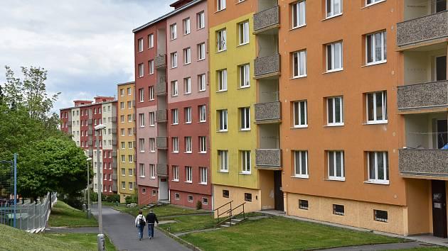 Ulice Borová, kde je jeden z příštích sociálních bytů.
