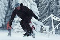 SNOWBOARDISTÉ si mohou letos poprvé užít snowpark.