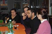 David Ištok na setkání studentského parlamentu.