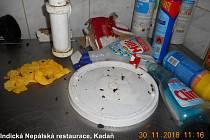 Kontrolou neprošly místnosti na přípravu jídel, ani šatny, ani toalety.